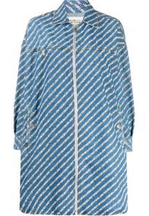Diesel Vestido Jeans Com Estampa Copyright - Azul