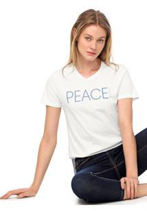 Camiseta Calvin Klein New Year Peace Branca