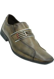 Sapato Social Napa Bkarellus Masculino - Masculino-Marrom Claro