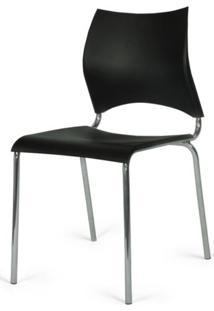 Cadeira Caribe Base Fixa Cromada Preta - 42437 - Sun House