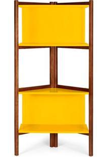 Estante Easy Cor Cacau Com Amarelo - 28989 - Sun House
