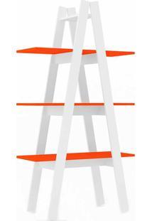 Estante Rt3047 Escada - Movelbento - Branco / Laranja