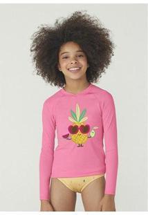 Camiseta Hering Manga Longa Com Proteção Solar Em Tecido Com Elastano Feminina - Feminino