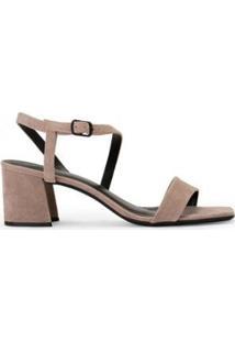 Sandália Amaro Salto Grosso Assimétrica - Feminino