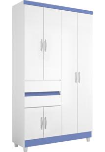Guarda-Roupa Araplac Mã³Veis 4 Portas Flex Branco/Roxo - Branco - Dafiti