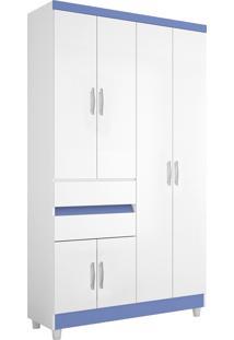 Guarda-Roupa Araplac Móveis 4 Portas Flex Branco/Roxo