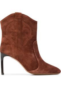 Ba&Sh Ankle Boot Caitlyn - Marrom