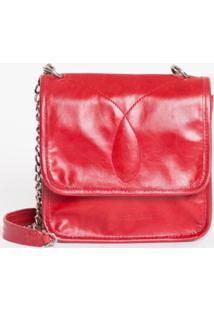 Bolsa Pequena Alça Correte Bordado Ômega - Vermelho - U