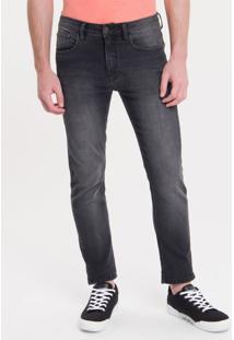 Calça Jeans Five Pockets Slim - Preto - 36