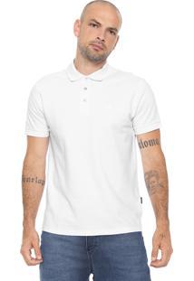Camisa Polo Cavalera Reta Assinatura Básica Branca
