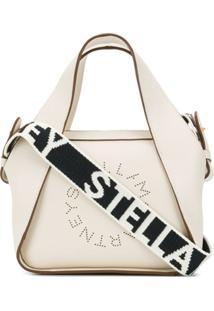 Stella Mccartney Bolsa Tote Stella Mini Com Logo - Branco