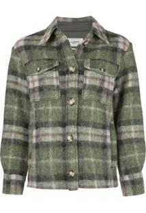 Isabel Marant Étoile Plaid Shirt Jacket - Verde