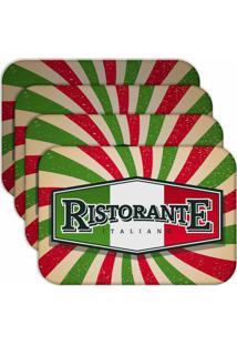 Jogo Americano Love Decor Restaurante Italiano Kit Com 4 Peças