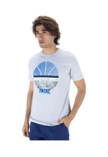 Camiseta Fatal Estampada 23020 - Masculina - Cinza Claro