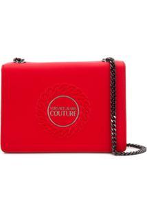 Versace Jeans Couture Bolsa Tiracolo Com Placa De Logo - Vermelho