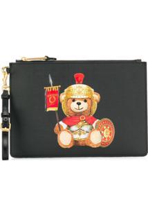 Moschino Teddy Bear Clutch Bag - Preto