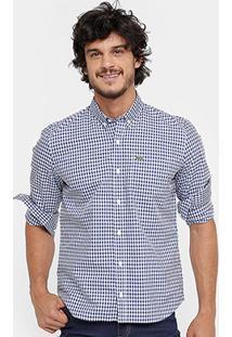 Camisa Xadrez Lacoste Regular Fit Masculina - Masculino