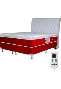 Colchão Magnético Queen Com Massageador Bio Quântica Cromoterapia + Box