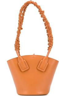 Bottega Veneta Small Basket Shoulder Bag - Laranja