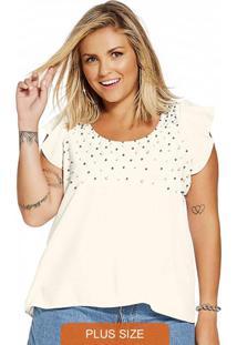 Blusa Plus Size Feminina Branco
