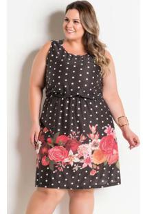 77c97f359 ... Vestido Marguerite Plus Size Poá E Floral