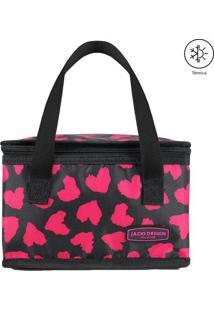 Bolsa Térmica Animal- Preta & Rosa- 22X14X14Cm- Jacki Design