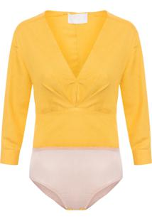 Body Feminino Femme - Amarelo