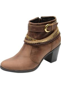 Bota Country Escrete Ankle Boot Cano Médio