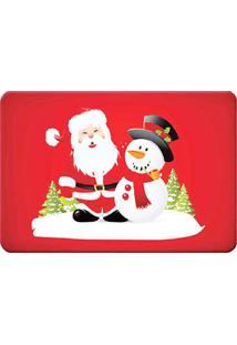 Tapete Para Banheiro Natal- Vermelho & Branco- 60X40Mabruk