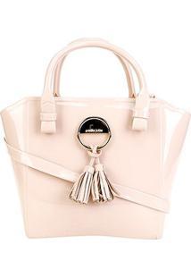 Bolsa Petite Jolie Shape Bag Feminina - Feminino-Bege Claro