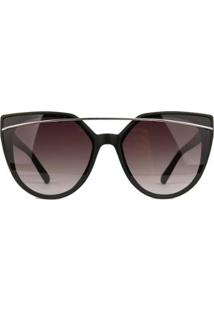 Óculos De Sol Atitude Feminino - Feminino-Preto