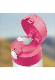 Garrafa Térmica Infantil Funtainer 355Ml - Feminino-Cinza+Rosa