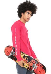 Camiseta Vans Mn Warped Check Ls Pink