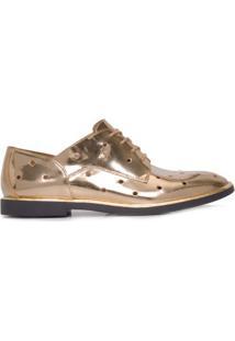 Oxford Couro Metalizado Armani Jeans - Dourado