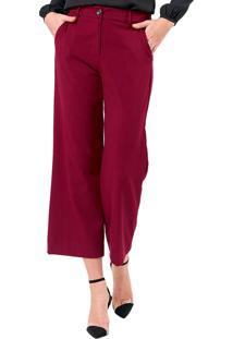 Calça Mx Fashion Pantacourt Jill Vinho