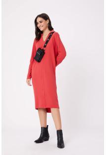 Vestido Chemise M Longa Vermelho Urban - Pp
