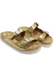 Rasteira Zariff Shoes Birken Dourado