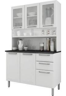 Cozinha Compacta Itatiaia I3Vg2-120 Regina 6 Portas Branca Neve