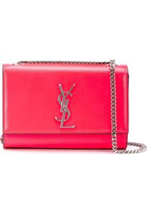 Saint Laurent Bolsa Tiracolo Kate - Rosa