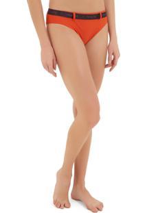 Calcinha Rosa Chá Nina Elásticos 1 Beachwear Laranja Feminina (Pureed Pumpkin, M)