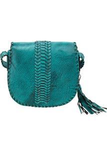 Bolsa Feminina Transversal Arara Dourada - Hs047 Azul