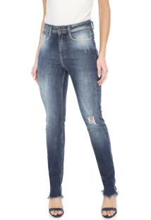 Calça Jeans Carmim Skinny Rabat Azul