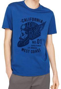 T-Shirt Joss Califórnia West Coast Azul Royal