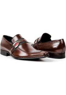 Sapato Social Couro Bigioni Fivela Masculino - Masculino-Marrom