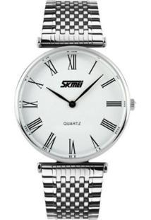 Relógio Skmei Analógico 9105 Branco