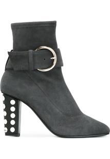 Giuseppe Zanotti Design Ankle Boot Com Detalhe De Fivela - Grey
