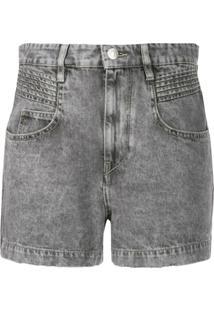 Isabel Marant Étoile Short Jeans Com Lavagem - Cinza