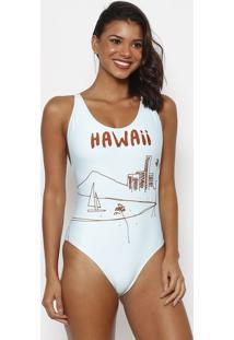 "Maiã´ Tradicional ""Hawaii""- Verde ÁGua & Marrom- Cia.Cia MarãTima"