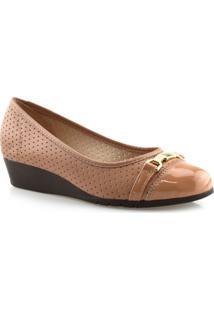 Sapato Feminino Anabela Salto Baixo Moleca 5156752