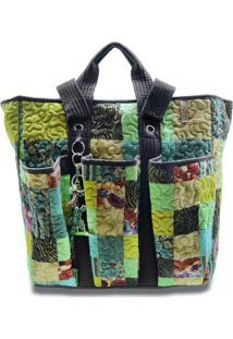Bolsa Kimberly Clover Em Patchwork Original Giulianna Fiori - Multicolorido - Feminino - Dafiti